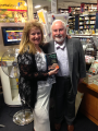 Peter Murphy with agent Annette Crossland